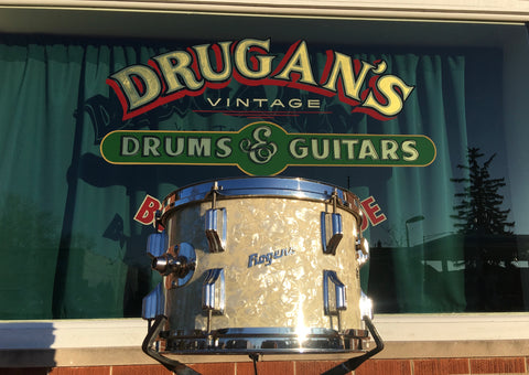1960's Rogers Cleveland Holiday 8x12 White Marine Pearl Tom Drum