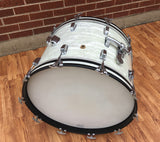 Early 1960's Ludwig Pre-Serial Super Classic Bass Drum White Marine Pearl 14X22