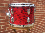 1970s Slingerland 8x12 3 Ply Red Tiger Tom Drum