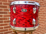 1970's Slingerland 9x13 3 Ply Red Tiger Tom Drum