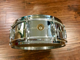 1969 Gretsch 5x14 Brass 4160 Round Badge Snare Drum 5X14