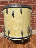 1956-59 Slingerland Radio King 18x20 Combo-Be Bop Bass / Floor Tom White Marine