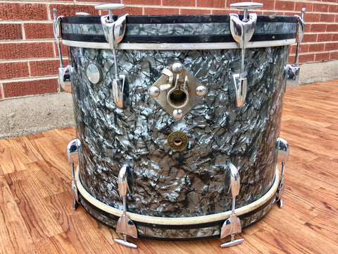 1960s Gretsch Round Badge 14x20 Bass Drum Black Diamond Pearl