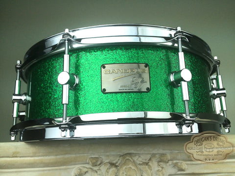 "Canopus NV60-M2 NEO-Vintage 5""x14"" Snare - Green Sparkle - New Lower Price!"