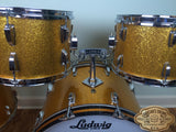 1968 Ludwig Keystone Gold Sparkle Hollywood Set - 22/12/13/16