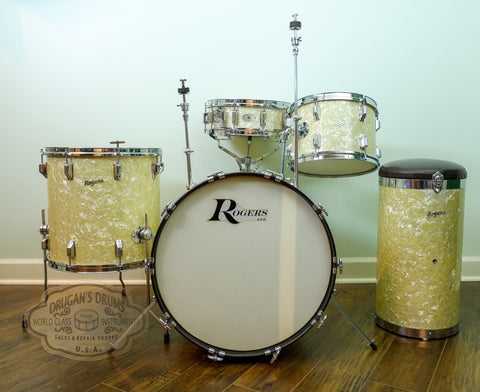 Jaw Dropping Rogers Buddy Rich Celebrity With Wood Dyna-Sonic & Canister Throne - WOW!!!