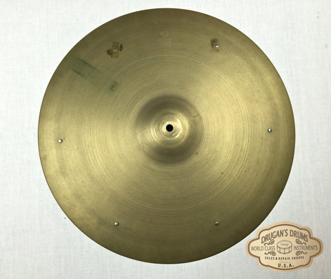 "18"" 1950's Zildjian A Crash Ride Sizzle 1704g - Inventory # 109"