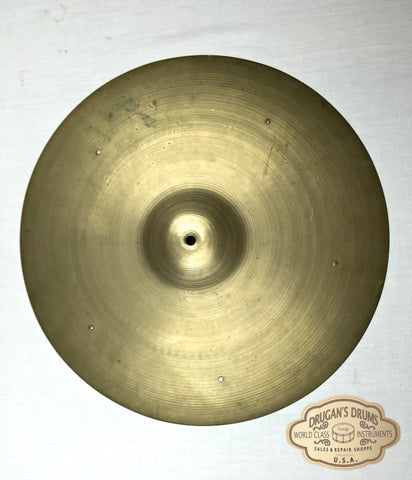 "18"" 1950's Zildjian A Large Stamp Crash Ride w/ Rivets 1630g - Inventory # 110"
