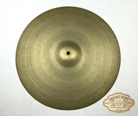 "19"" 1950's Zildjian A Block Large Stamp Ride Cymbal 1728g # 12"
