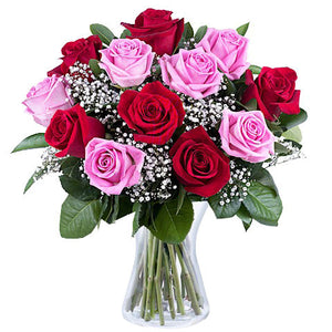 Bouquet Pink & Red roses | Gifty by The Breaking Heart