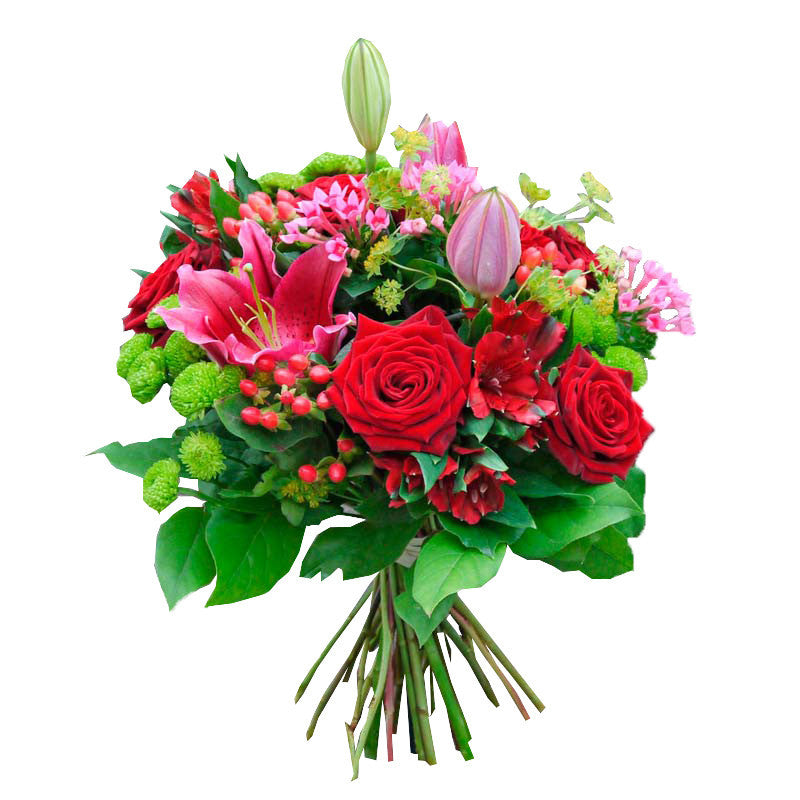 Lillium & Red roses Bouquet | Gifty by The Breaking Heart
