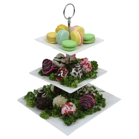 Macaroon & Choco-Strawberry Mountain Arrangement | Gifty by The Breaking Heart
