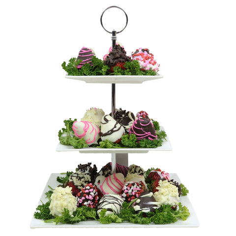 Mountain Chocolate Dipped Strawberries Arrangement | Gifty by The Breaking Heart