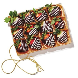 Dozen of Strawberries In wooden box