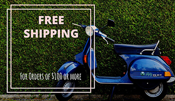 Free Delivery on all orders over $100 before tax