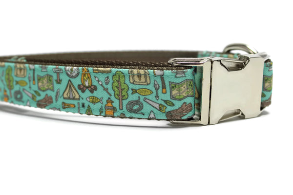 Camping Canvas Dog Collar