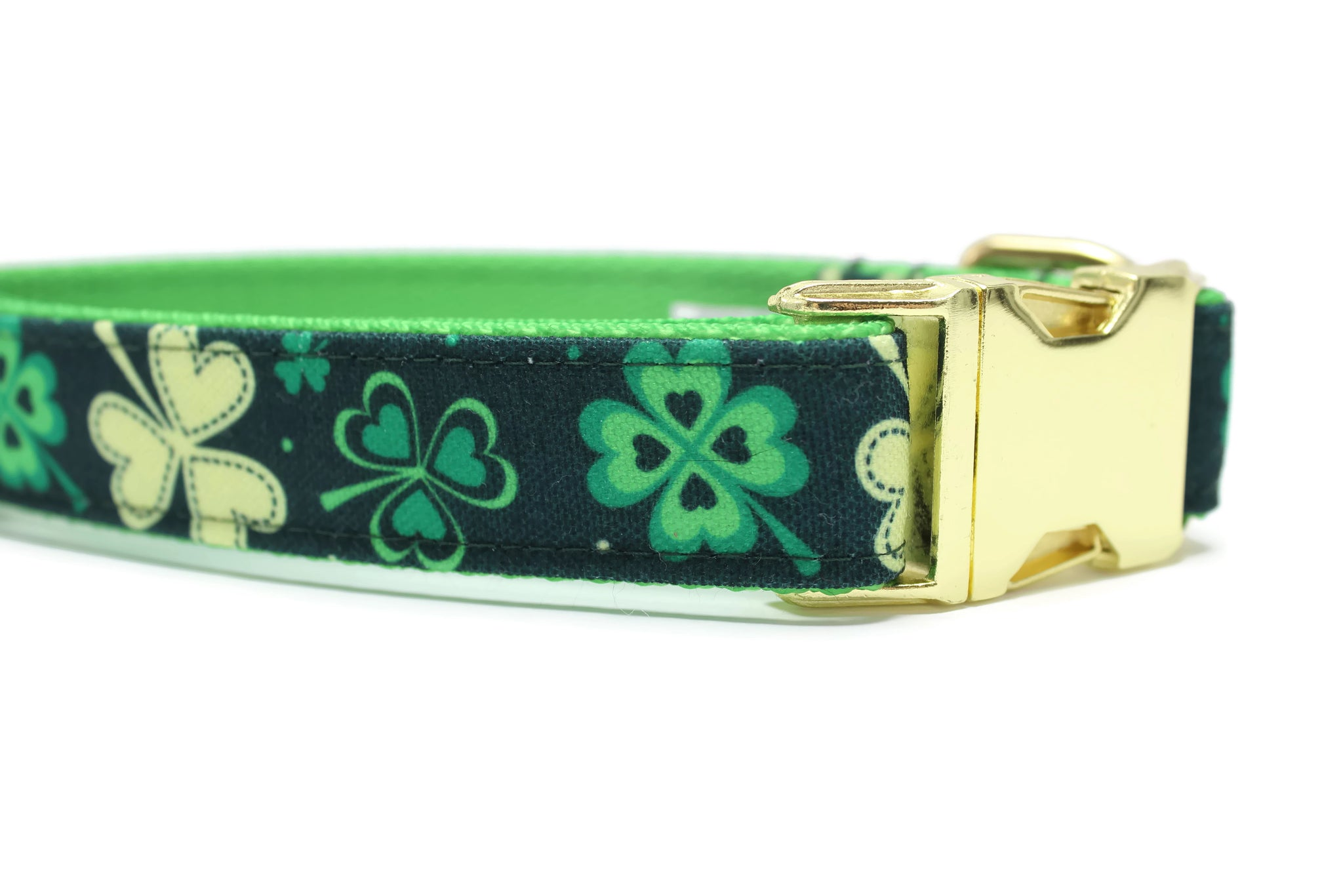 Shamrock Canvas Dog Collar