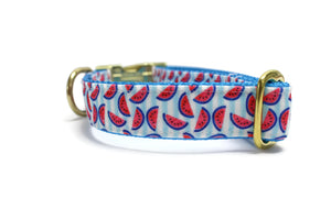 Summer Watermelon Canvas Dog Collar
