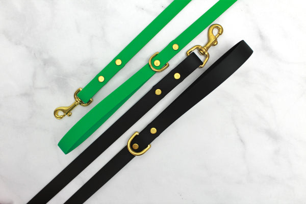 Water Resistant Biothane Dog Lead - Your Choice of Color