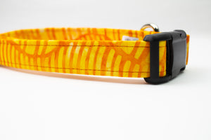 Sun Ray Cotton Fabric Dog Collar