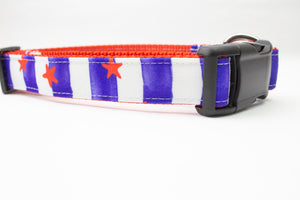 Stars and Stripes Canvas Dog Collar