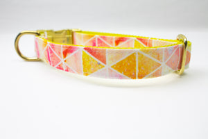 Watercolor Sunset Canvas Dog Collar