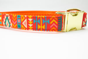 The Santa Fe Canvas Dog Collar