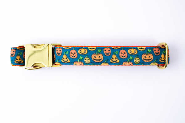 Spooky Pumpkins Canvas Dog Collar