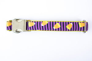 Candy Corn Canvas Dog Collar