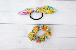 Mustard Floral Headband, Scrunchie or Hair Bow