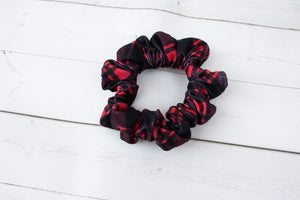 Red and Black Buffalo Plaid Headband, Scrunchie or Hair Bow