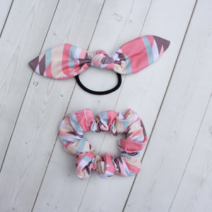 Pink Adobe Headband, Scrunchie or Hair Bow