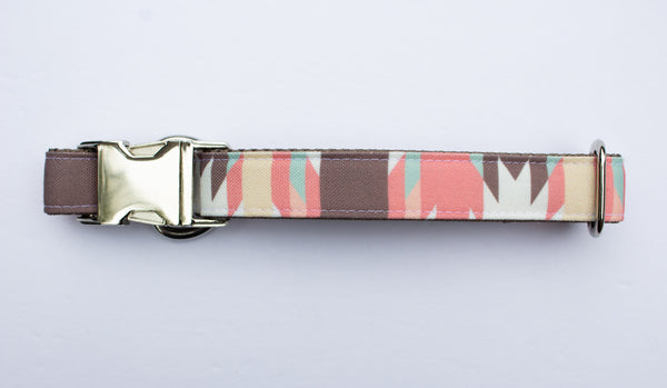 Pink Adobe Canvas Dog Collar