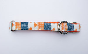 Harvest Denim Canvas Dog Collar