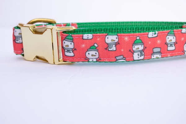"Snow People Canvas Dog Collar (1"" and 1.5"" wide only)"