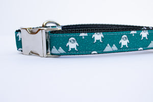 "Abominable Snowman Canvas Dog Collar (1"" and 1.5"" wide only)"