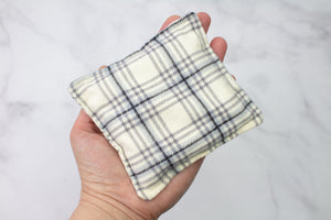 Cream Plaid Hand Warmers
