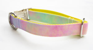 Pastel Tie Dye Canvas Dog Collar