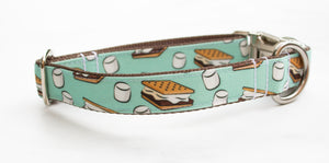 "S'mores Canvas Dog Collar (1"" and 1.5"" wide only)"