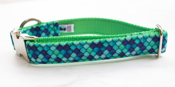 Dragon Scales Canvas Dog Collar