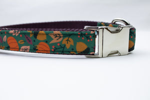 "Autumn Day Canvas Dog Collar (1"" and 1.5"" only)"