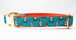"Gnomes Canvas Dog Collar (1"" and 1.5"" wide only)"