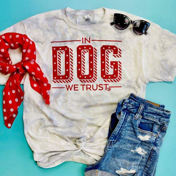 In Dog We Trust Tie Dye T-Shirt