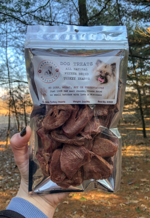 Raw Freeze Dried Turkey Heart Treats - 2oz