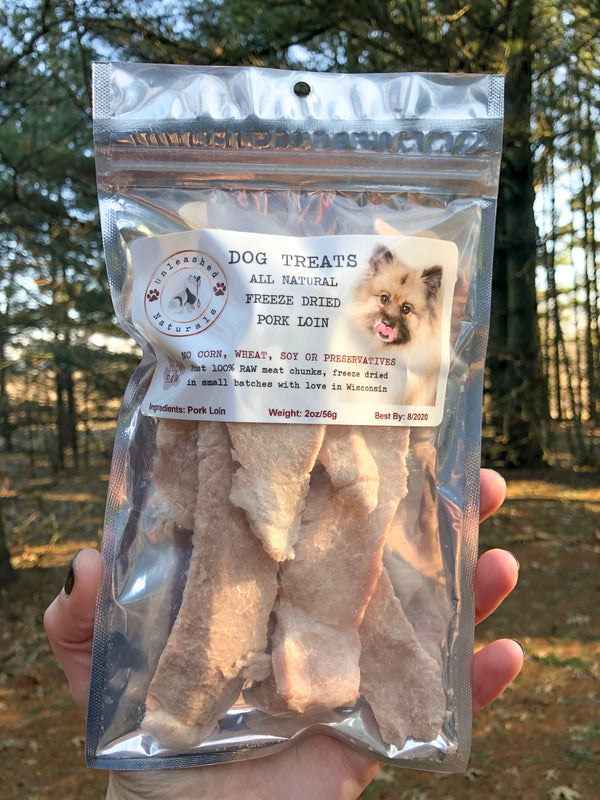 Raw Freeze Dried Pork Tenderloin Treats - 2oz