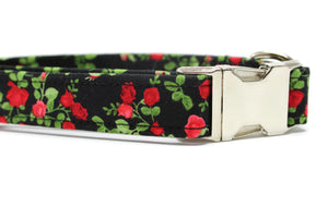 Red Roses Dog Collar