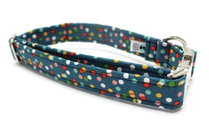 Twinkling Lights Fabric Dog Collar
