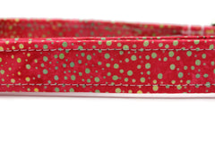 Jolly Red Dot Fabric Dog Collar