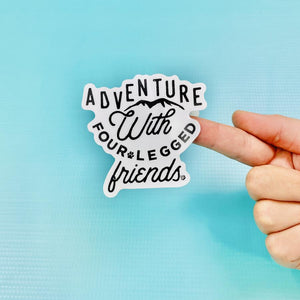 Adventure With Four Legged Friends Vinyl Sticker