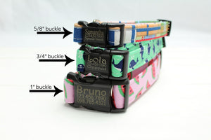 The Rio Canvas Dog Collar
